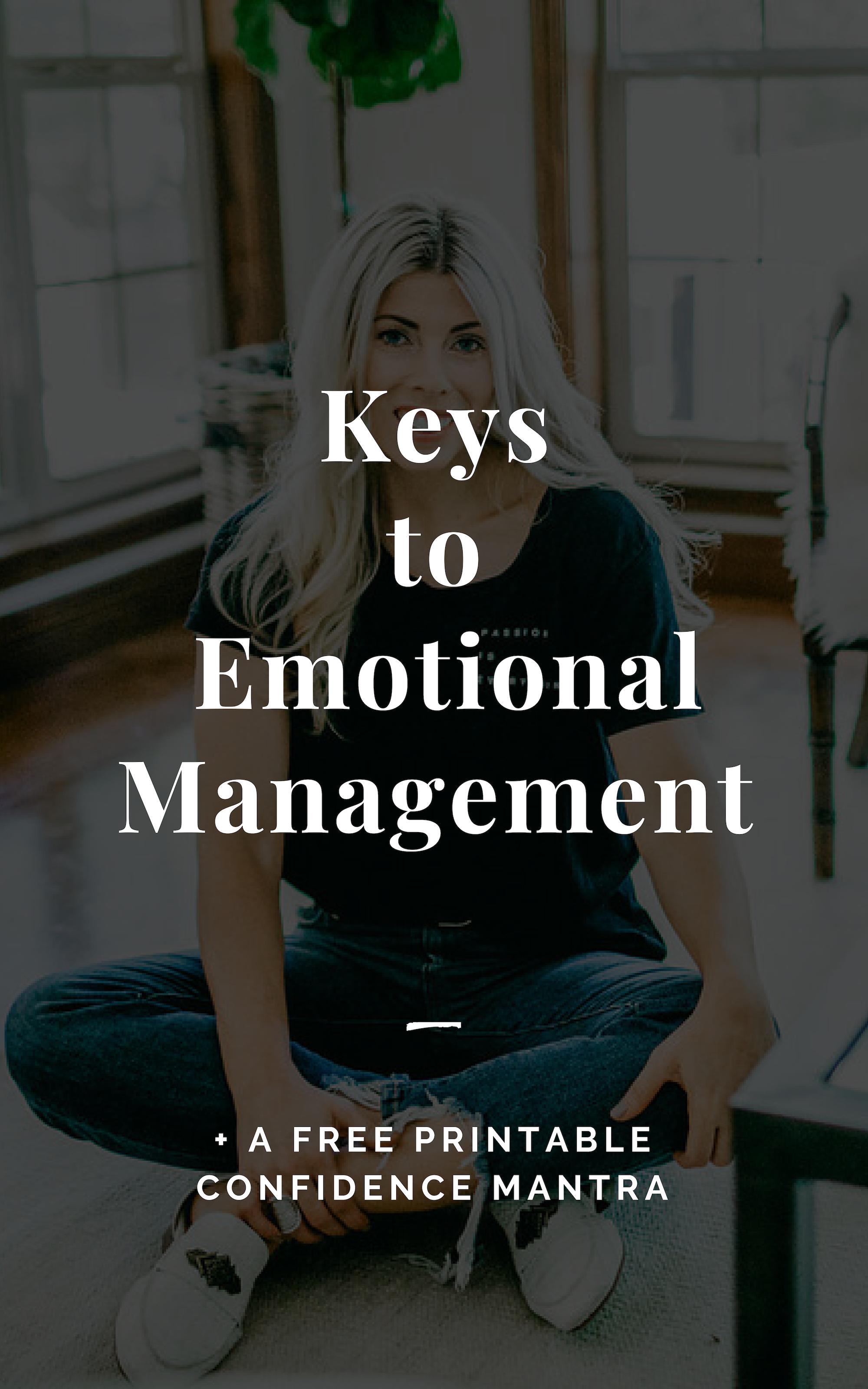 Keys to Emotional Management