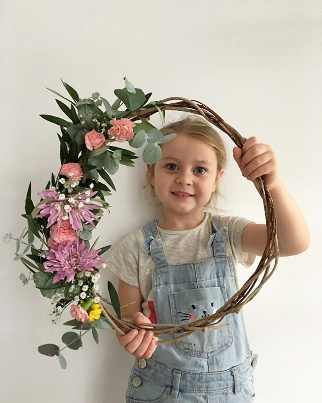 Early morning wreath making for Anni's preschool teacher's. I did the greenery last night; she stuck the flowers in this morning. All recycled from Zak's year 6 farewell last night (so I give the flowers approximately 3 hours before they completely die!)