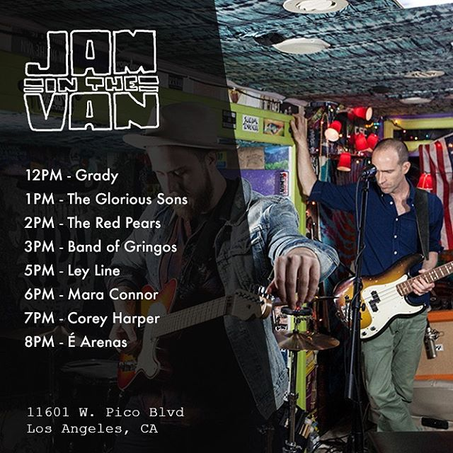 Tomorrow will be fun! Come see us tomorrow at @jaminthevan HQ and get a sneak peek of what's to come on Wednesday at @themintla 💫 can't wait to rock out in the van! #jaminthevan #jitv #livemusic #losangeles #acousticinstruments #uprightbass #talkingdrum #guitar #ukelele #portuguese #goodmusic