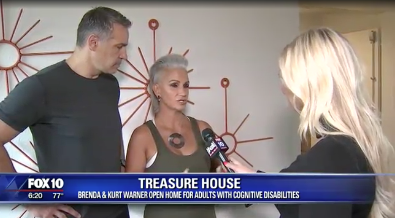 """""""Inspired by their son, Kurt and Brenda Warner open Treasure House in Glendale"""" - Story by Marcy Jones - September 19, 2018Read full article and watch interview HERE.Excerpt:Even art on the walls, old metal parts are polished and welded together, making what once some may have considered damaged pieces stronger and more beautiful.Just ask the artist, Brenda."""