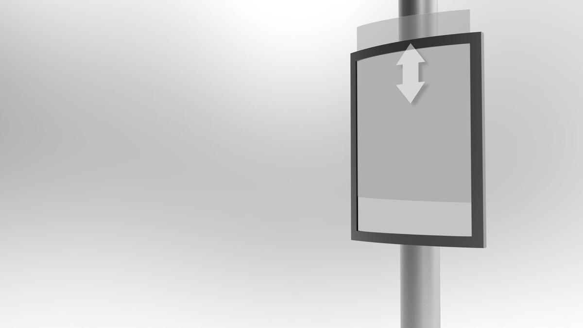 Plakatieren leicht gemacht: Das MAST DISPLAY - Einfach und doch so effektiv – perfekt für die Plakatierung im öffentlichen Raum!