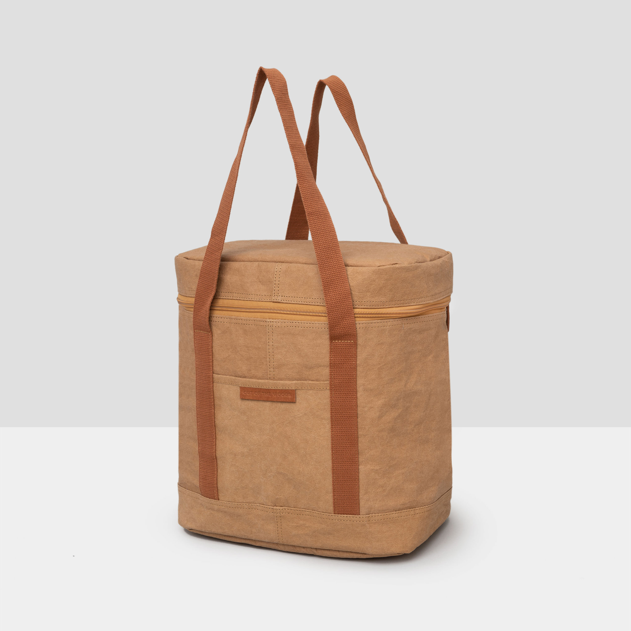 Walrus Cooler in brown Supernatural Paper with complimentary brown handles