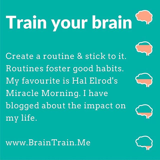 Train your brain to break bad habits🧠⠀ Your brain has the ability to learn and grow as you age - a process called neuroplasticity.  BUT you have to train it on a regular basis. ⠀ I will be posting Brain Training Tips⠀ 🧠⠀ #Brain #NeuroPlasticity #BrainTrain #Grow #Learning #Develop #selfdevelopment #Neurology #Lifestyle #Health #SelfLove #BrainHealth #Mindfulness #Psychology #MentalHealthWarrior #MentalHealth #EmotionalHealth #Psychotherapy #Counselling #LifeCoaching #BrainTraining #BerkshireBusiness #miraclemorning  #blogger  #bloggersofinstagram