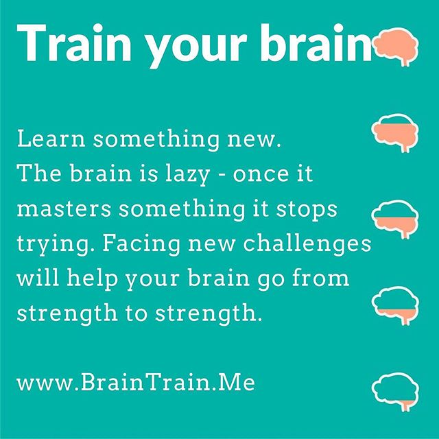 Train your brain 🧠⠀ Your brain has the ability to learn and grow as you age - a process called neuroplasticity.  BUT you have to train it on a regular basis. ⠀ I will be posting Brain Training Tips⠀ 🧠⠀ #Brain #NeuroPlasticity #BrainTrain #Grow #Learning #Develop #selfdevelopment #Neurology #Lifestyle #Health #SelfLove #BrainHealth #Mindfulness #Psychology #MentalHealthWarrior #MentalHealth #EmotionalHealth #Psychotherapy #Counselling #LifeCoaching #BrainTraining #BerkshireBusiness
