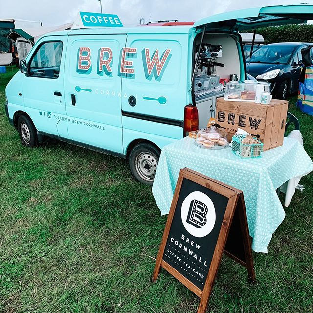 Here at the Cornish Steam & Country Fair all weekend 💙  #coffee #coffeevan #cornish #cornwall #caffeinefix #brew #fair #summer #eco #grassfed #milk #oatly #trink #origincoffee #dairy #tea #hotchocolate #cake #food #vegan