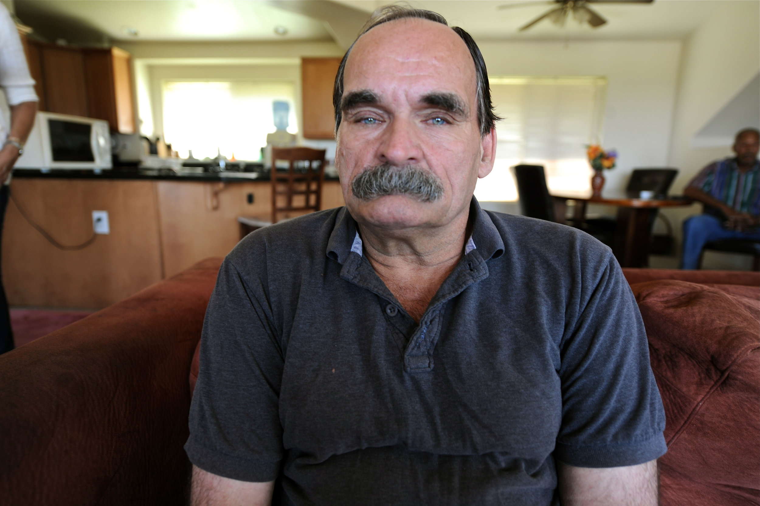 Huckabay, 61, was last convicted for drug possession. He expects to be  off probation in November.   -Sadaf Syed for Al Jazeera America