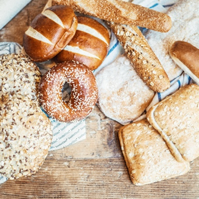 Detail 1 - The bread is of great importance in our range. We have chosen the most suitable option for each product and that's why we have 12 different types of bread.