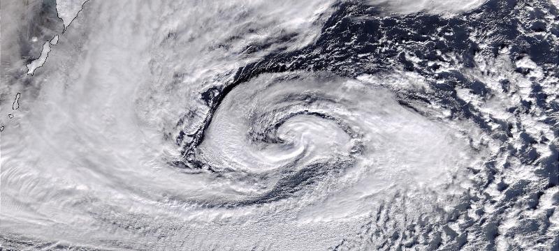 Polar low. Photo: NASA