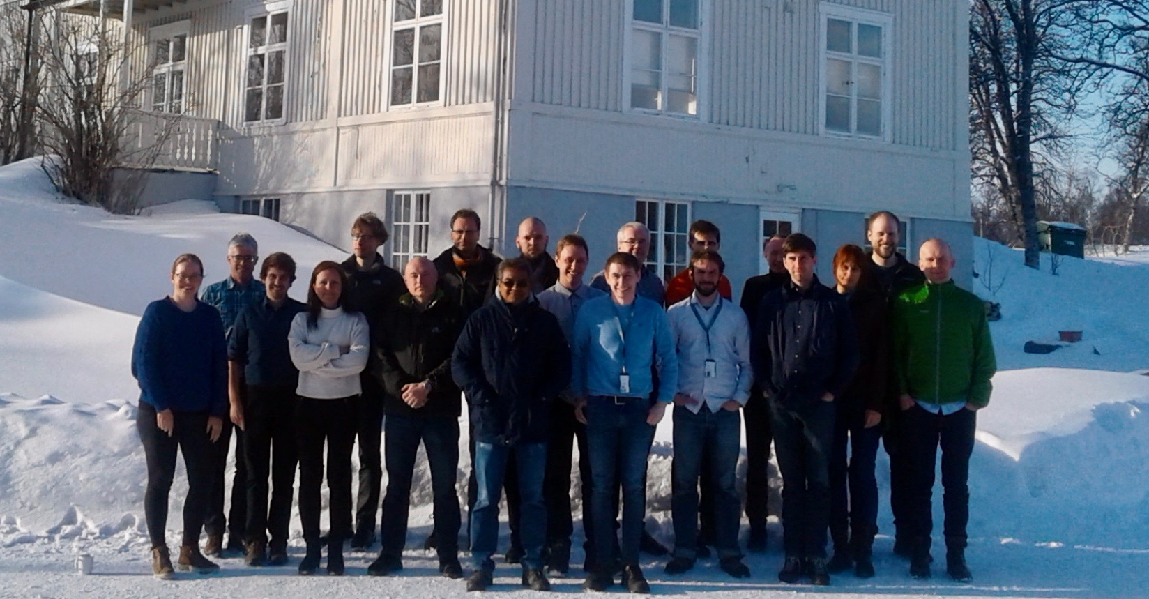 Alertness meeting in March, here in front of the old Institute for Geophysics in Tromsø. Photo: Sevim Gulbrandsen.