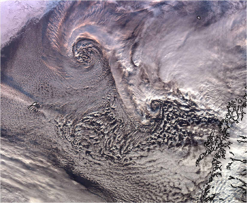 Polar low. Photo: MET Norway.