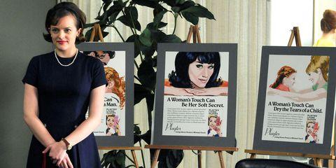 """""""What do women want?"""" Er et spørsmål som blir stilt av kunden som resulterer i et av serie-historiens mest ikoniske svar. Foto: AMC."""