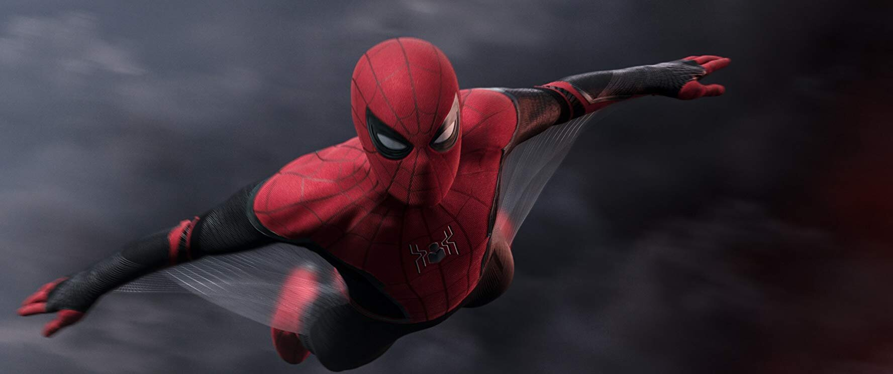 Tom Holland som Spider-Man i Spider-Man: Far From Home. Opphavsrett: Sony Pictures Entertainment / Foto:  IMDb