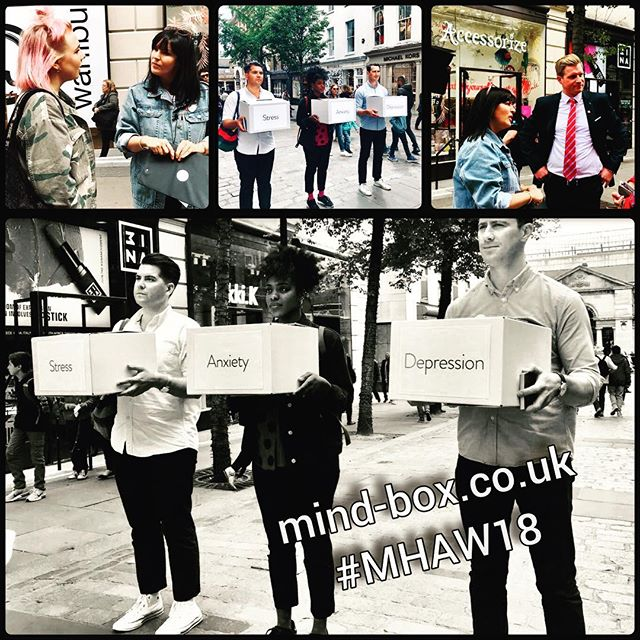 Ahead of #mentalhealthawareness week the @mindboxchange team and I hit the streets to hear YOUR stories of stress, anxiety & depression. Get involved...#mystory...we want to hear it all. 💋. . . . . . #feelbetternow #stress #anxiety #depression #mindbox