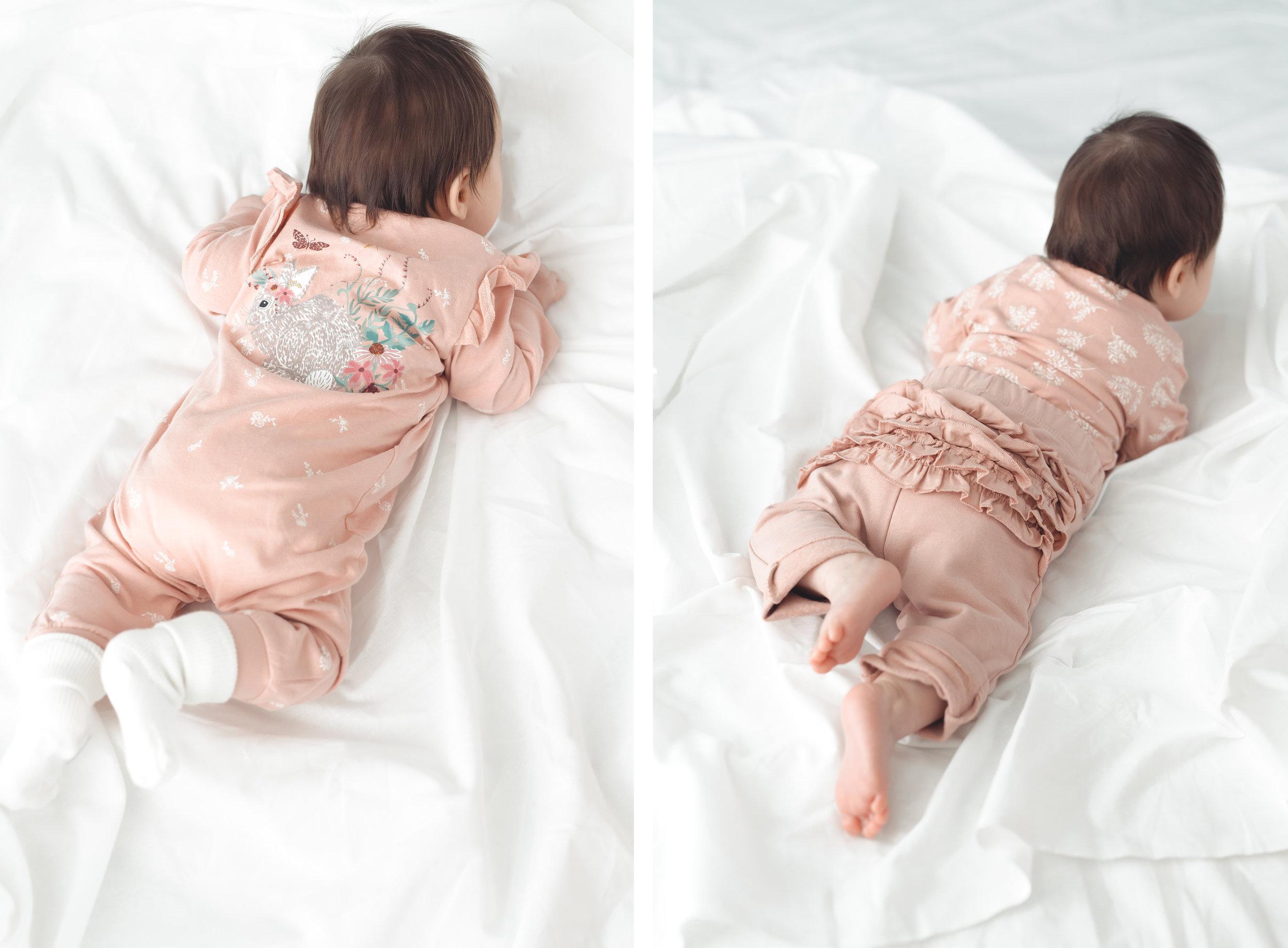 Kauniit yksityiskohdat suloisissa Lindex Baby malliston vaatteissa