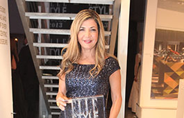 """Business Woman of the Year - Ingie Chalhoub, CEO and Managing Director of Etoile Group and Creative Director of Fashion label INGIE Paris was awarded the title of ELLE BUSINESS WOMAN OF THE YEAR at the first ELLE Style Awards that took place at the Art Sawa Gallery in Al Quoz on Friday the 13th of December.Delighted at receiving the award, Ingie Chalhoub, multi-award winning business woman and style guru said, """"I am honored to be awarded the business woman of the year. I thank ELLE for this award and acknowledgement. I also would like to thank my wonderful family who have been a great source of strength and inspiration and without whom this would not have been possible.""""Long established as one of the Middle East's foremost fashion icons, due to both her innate sense of style and her acumen when it comes to the business of luxury, Ingie Chalhoub adds a new title to her long list of awards including the recent accolades of Visionary Entrepreneur 2013 and Gulf Connoisseur Award 2013.Ingie Chalhoub was dressed in Ingie Paris outfits during the awards ceremony."""