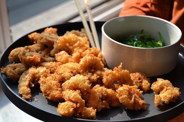 Crunchy shrimp #freshfood#seafood#cookingwithfamily#panko#