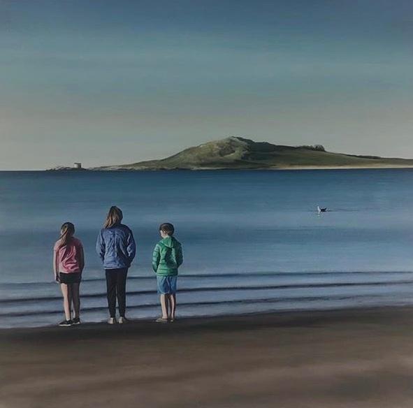 Josie, Evie and Declan, Burrow Beach, Howth