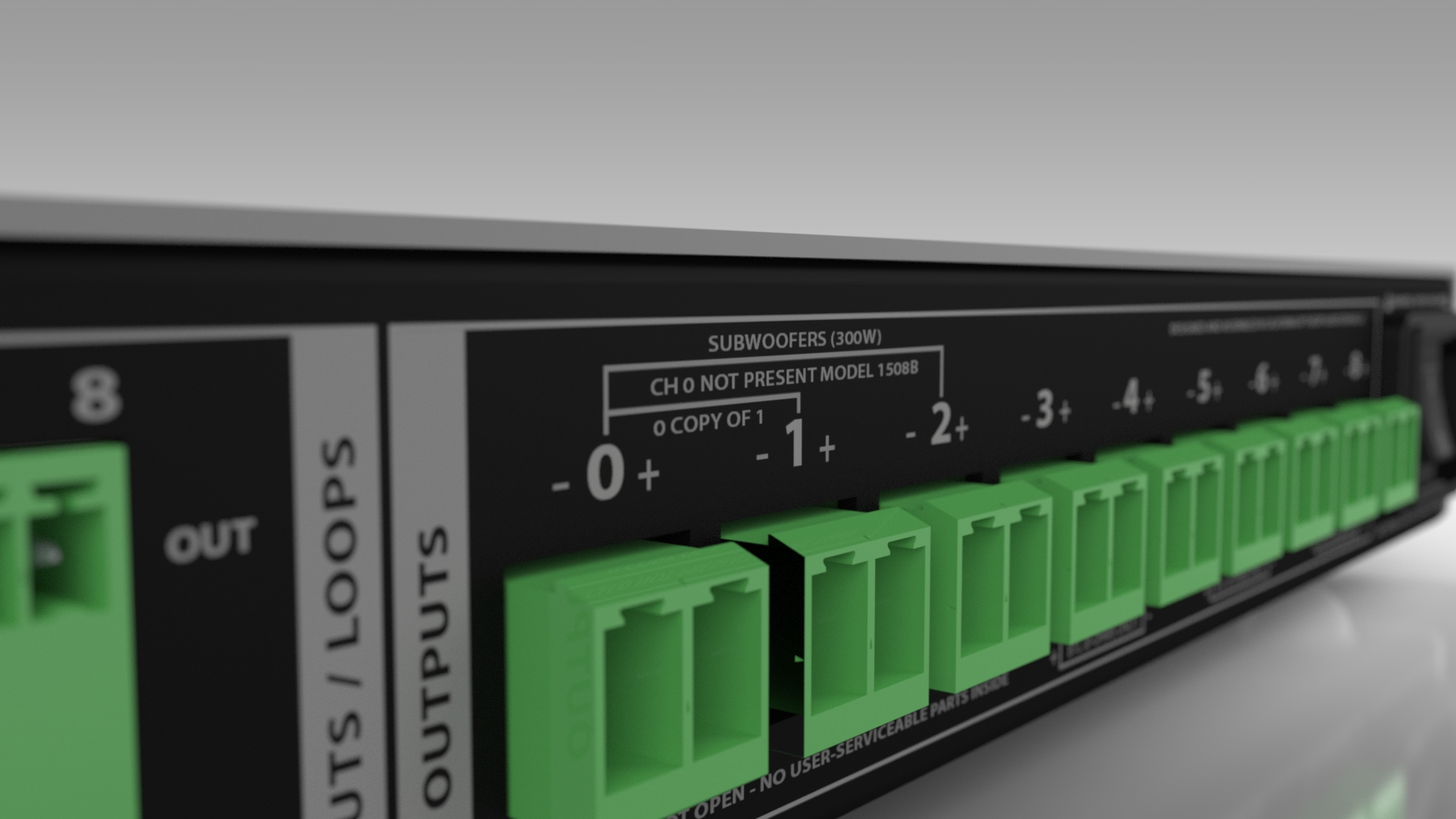 ALC-1809B 9-CHANNEL AMPLIFIED LOUDSPEAKER CONTROLLER - 3 X 300W SUBWOOFER OUTPUTS