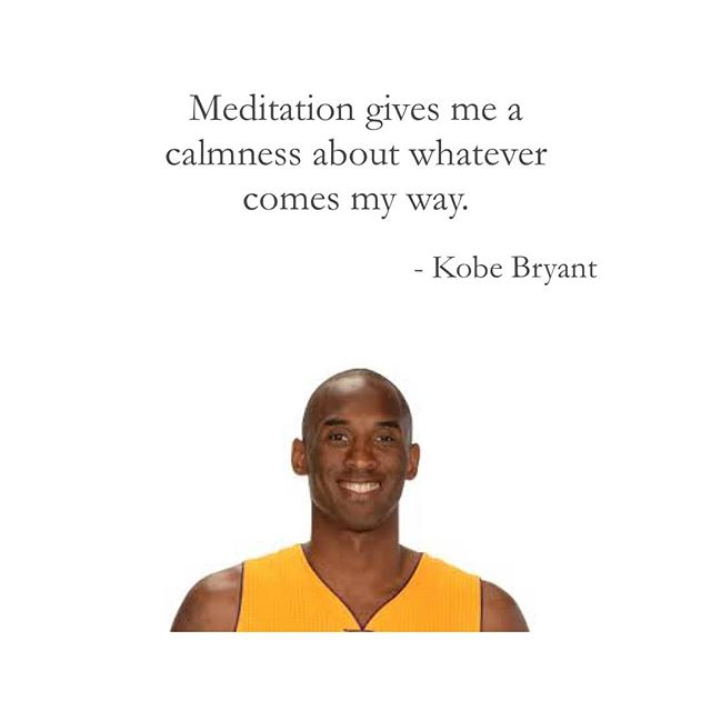 Says five time NBA championship winner and finals MVP. 🏀 He said he learned how to be neither distracted or focused, rigid or flexible, passive or aggressive. He learned to just BE. Imagine being under that kind of pressure and having the ability to be present? This is the power of mindfulness and meditation.