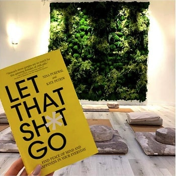 REPOST from our lovely time at @myhoame  @erikaaaaa_f  Here's to letting that Sh*t go ⭐️ ⁣ ⁣ Thank you so much to the beautiful humans behind this book, @nina.pure.minds & @kate.petriw, for putting on such a wonderful community evening of conversation, reflection, meditation, & laughs. 🙏🏻