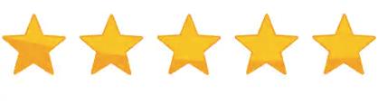 5 stars - RATED on AMAZON