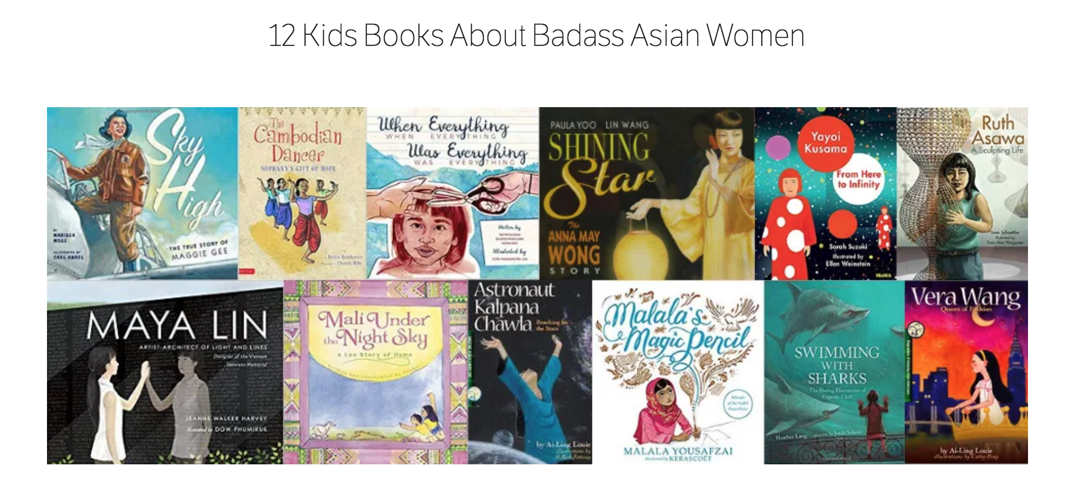 12 Kids books about badass Asian women