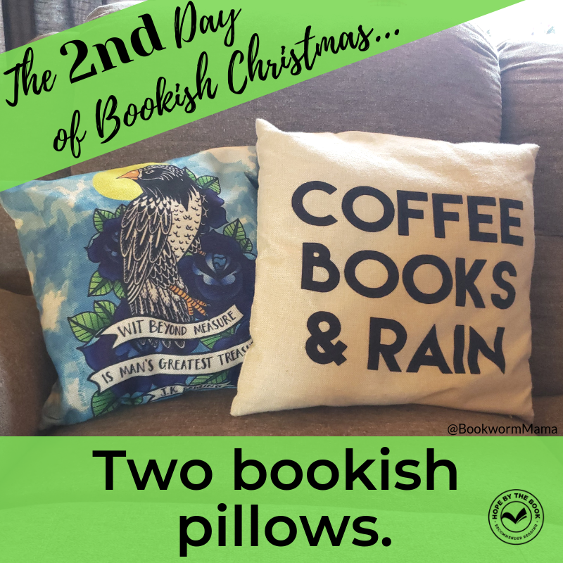 - On the second day of Christmas my true love gave to me, two bookish pillows.