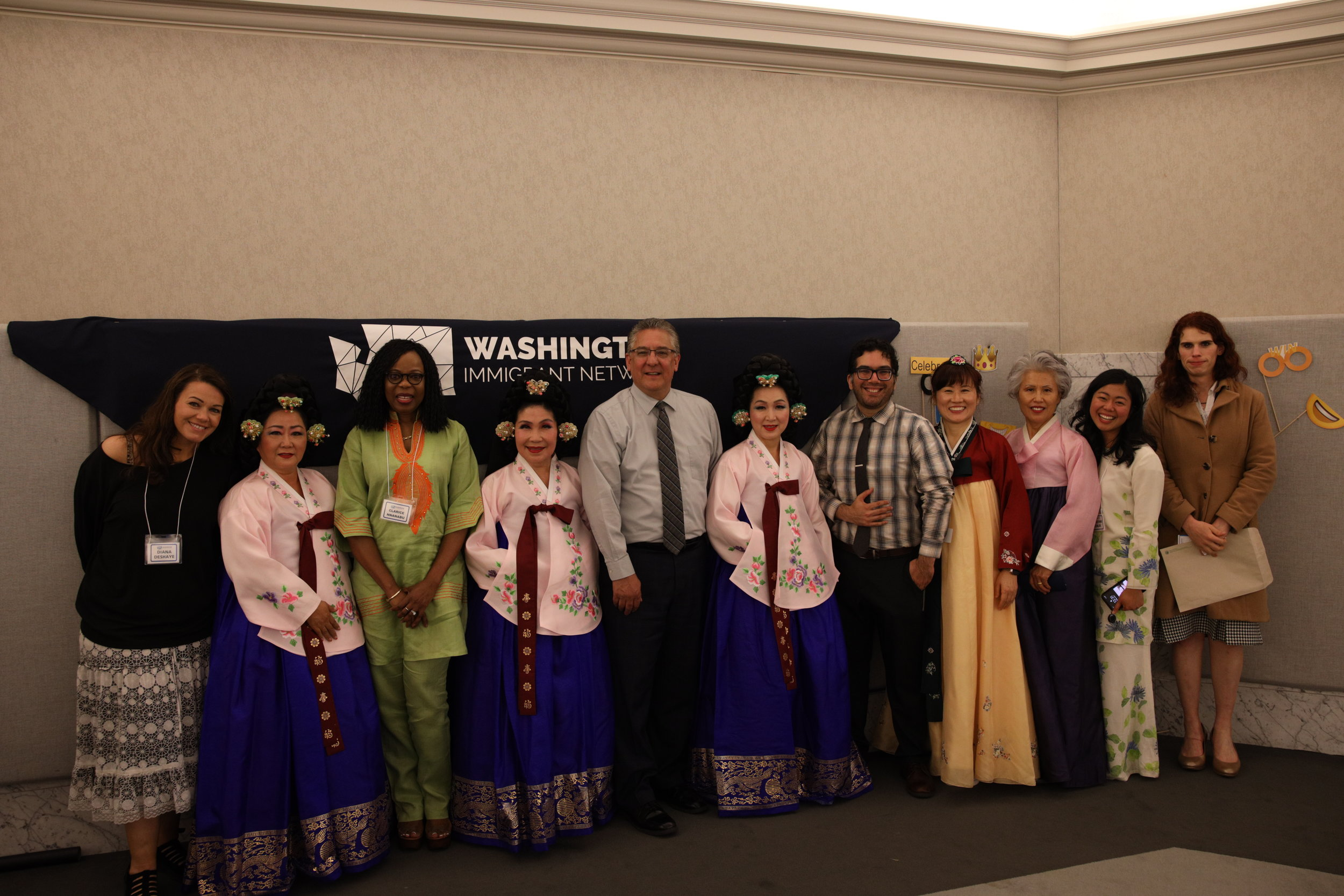 WIN 1st Anniversary 2019 Oregon Korean Performing Arts with leadership.JPG