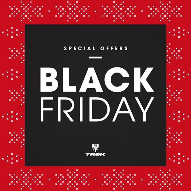 Burn off that turkey! Stop by tomorrow, Saturday and Monday only for in store only specials on all Trek bikes and Bontrager accessories 🎉🎉🎉🎉🏍🏍🏍🏍🏍🏍🏍🎰🎰🎰🎰🎰🎰🎰