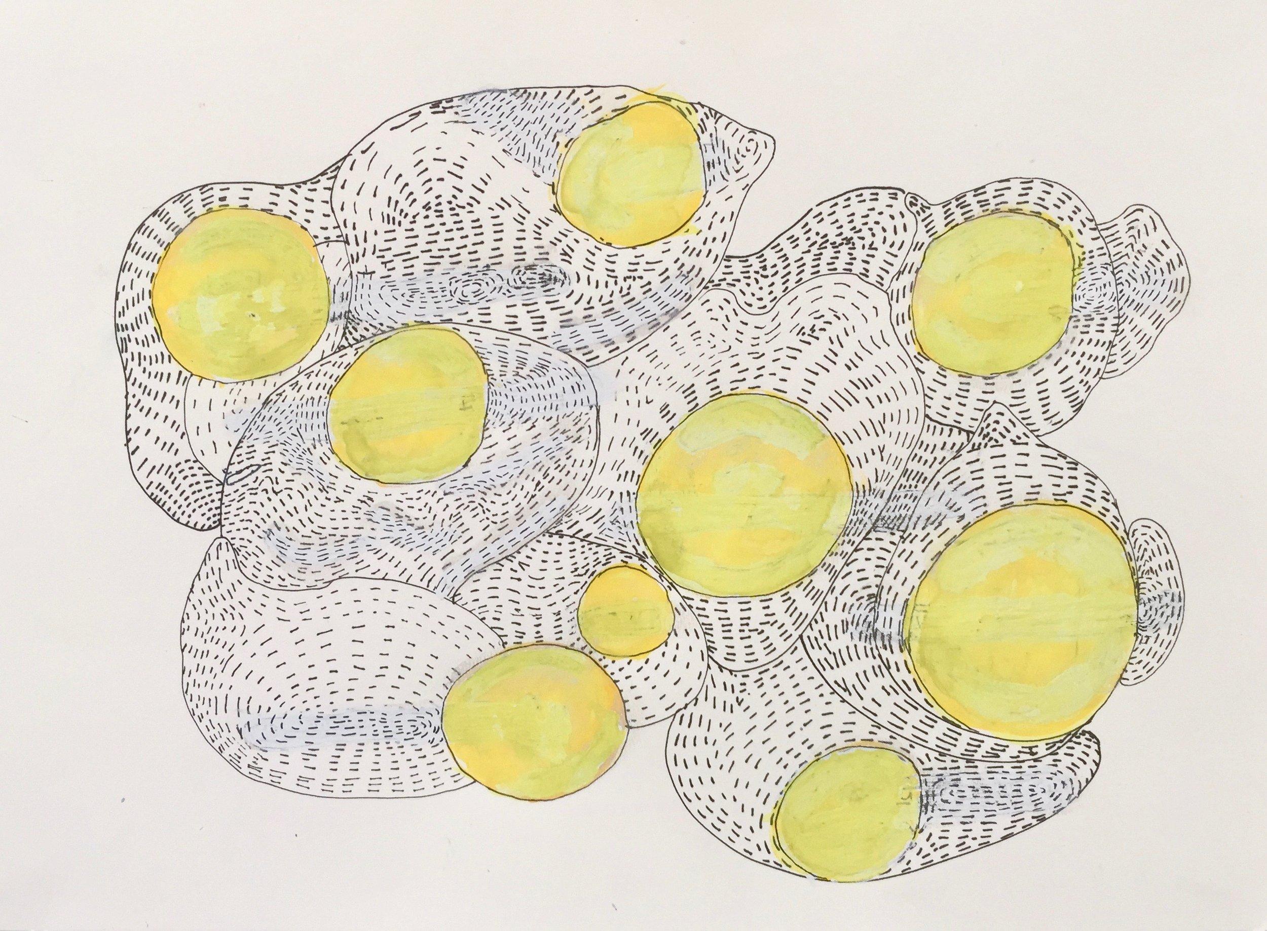 Cristina Barroso, Democracy, 2019 watercolour on paper 30x40 cm