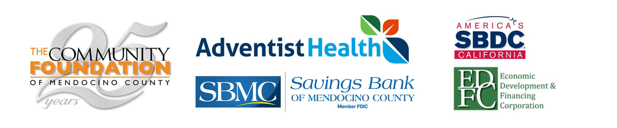 Logos for Startup Mendocino Sponsors