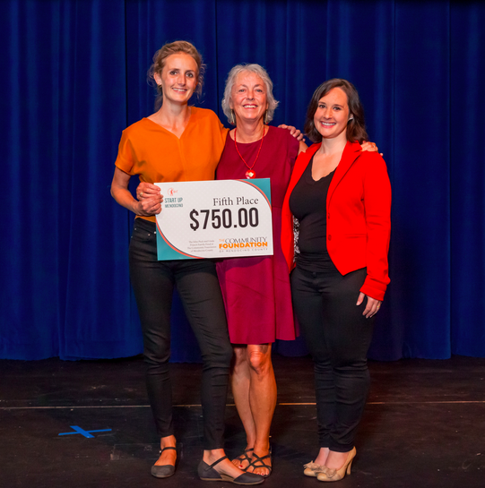 Fifth Place of $750 from the John Pack and Linda Francis Fund at The COmmunity Foundation of Mendocino County - Lia Wilson & Scarlett TrilliaThe Red HouseCo-working spaceFort Bragg
