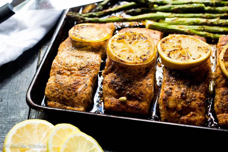 One Pan Cajun Salmon & Asparagus - 30 Minute - One Pot Meal