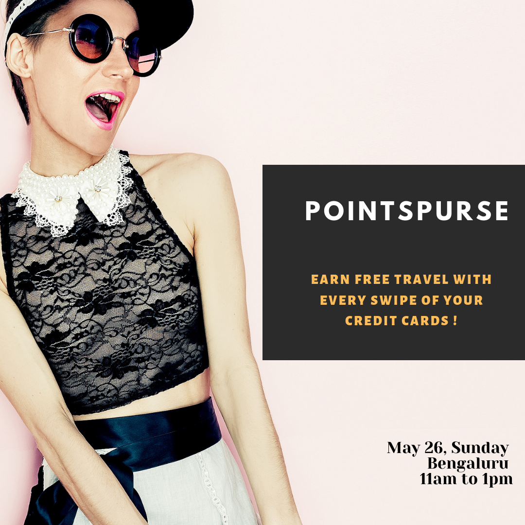 Point Purse Bengaluru - Date: May 26, 2019Time: 11:00 AMVenue: The Bohemian House, Raja Ram Mohan Roy Road, Inside Hotel Woody's, Richmond Town, Bengaluru, Karnataka 560025Early Bird Tickets (till May 20): ₹ 800 (Inclusive of GST) Regular Tickets: ₹ 1000 (Inclusive of GST)