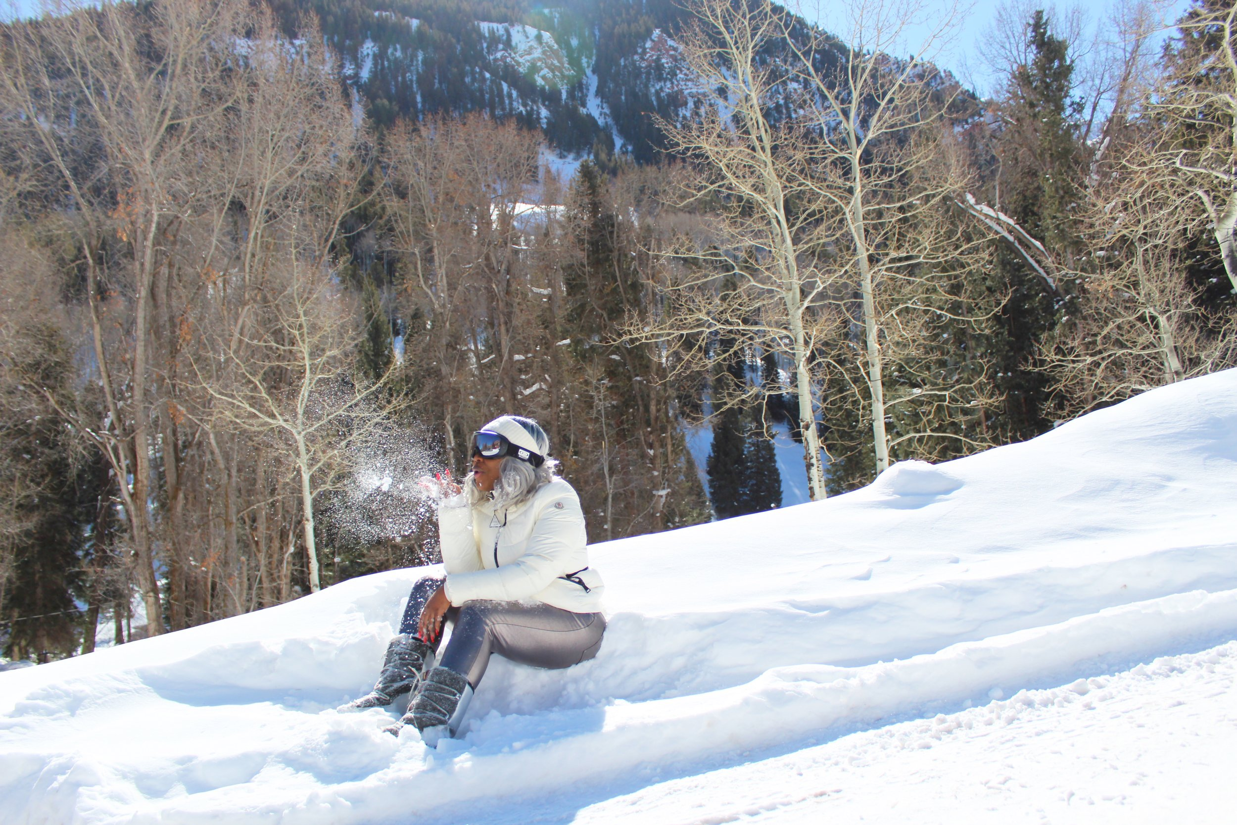 That's me blowing away my funds in Aspen