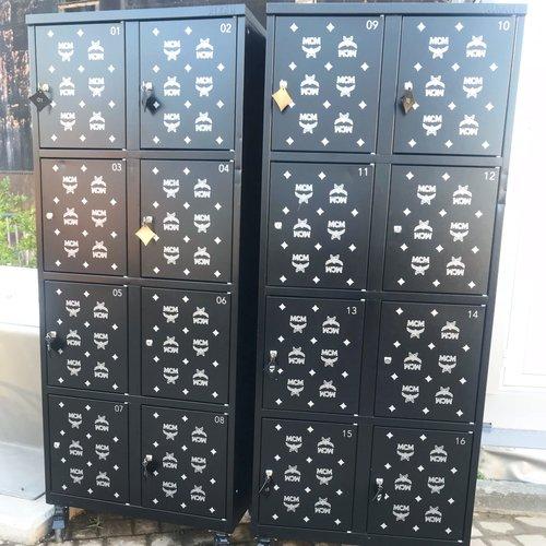 The lockers were MCM, so cute lol