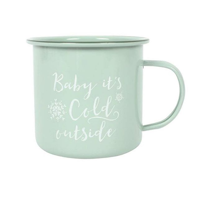 If you love autumn🧣🍂🐿⛅️ like us! This is the mug for you☕️! Just £3.99 what's your excuse not to snuggle up and beat the chill with a cosy hot cup of cocoa! Shop now link in bio👆🏼 #cosynight #nightin #snuggleup #hotcocoa #coffeemug #dailydecordose #mintgreen #babyitscoldoutside #mug #tinmug #coffee #coffeelover #coffeelovers #homedecoraccessories #mugs #homedecoronabudget #homeinteriors #homeinterioruk #homeandliving #homeatlast #autumn