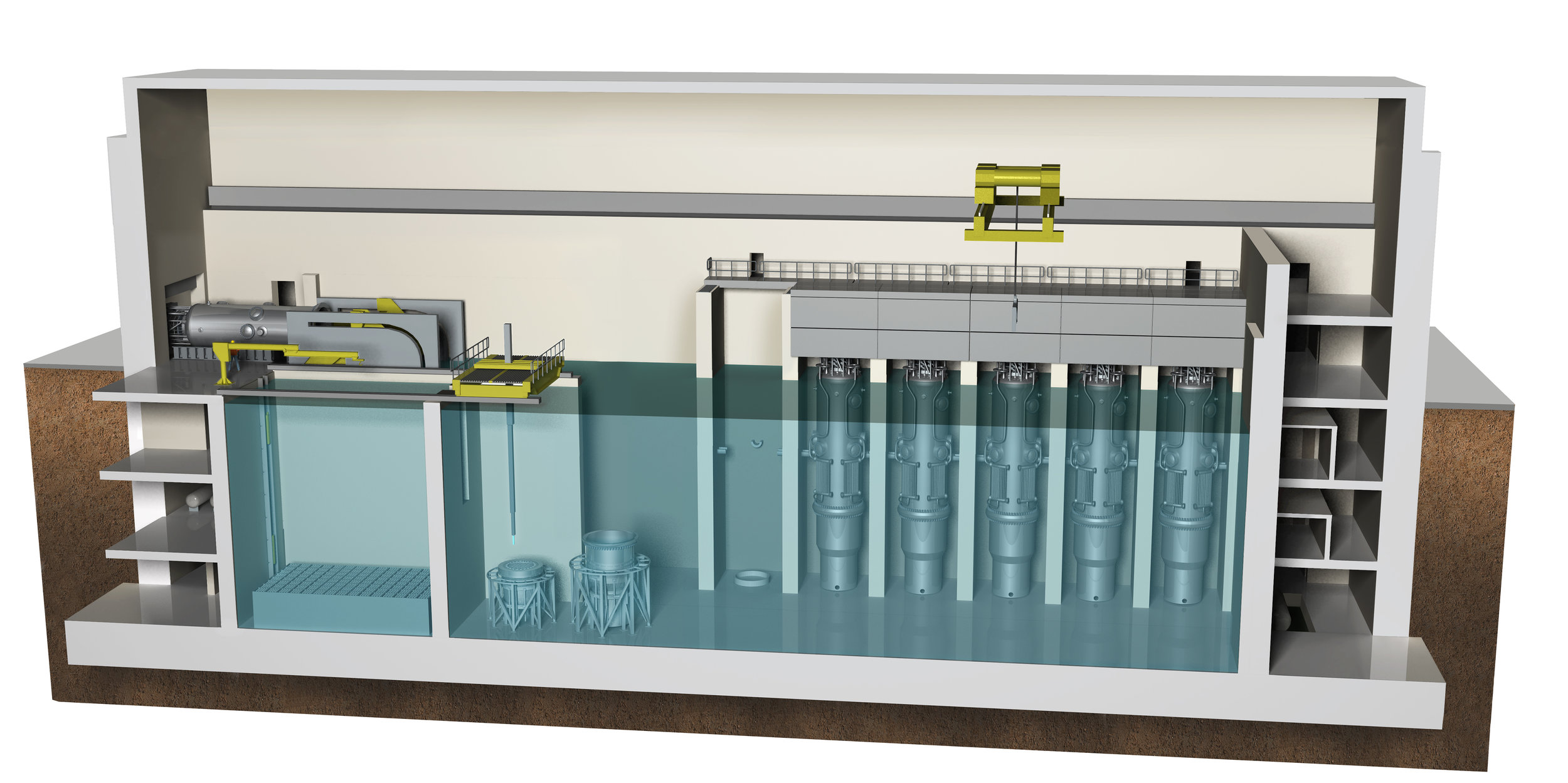 NuScale Reactor Building Cross-sectional