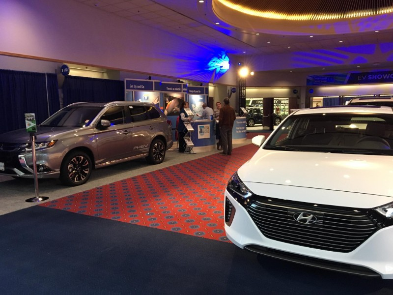 Last weekend, ODOE was at the Portland International Auto Show, where we shared information about electric vehicles, vehicle charging options, and resources for fleet managerslooking to integrate alternative fuel vehicles. -