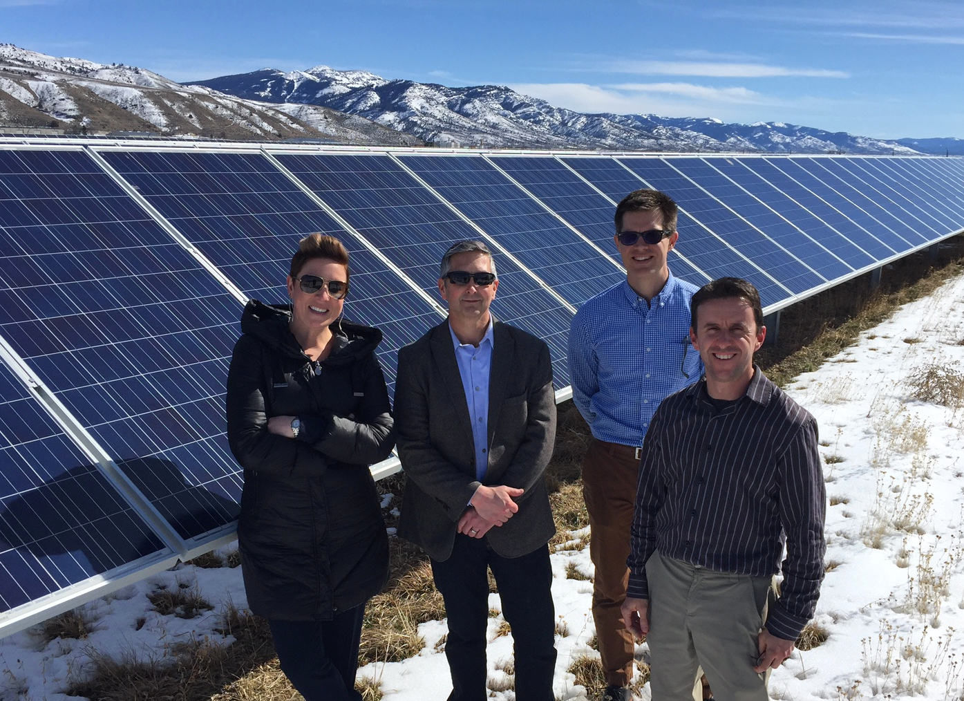 Okay, the snow hadn't melted here quite yet, but…  We took a site visit to the Black Cap Solar Facility outside  Lakeview , after we held a public information meeting on the proposed  Blue Marmot Solar Energy Facility  in town.