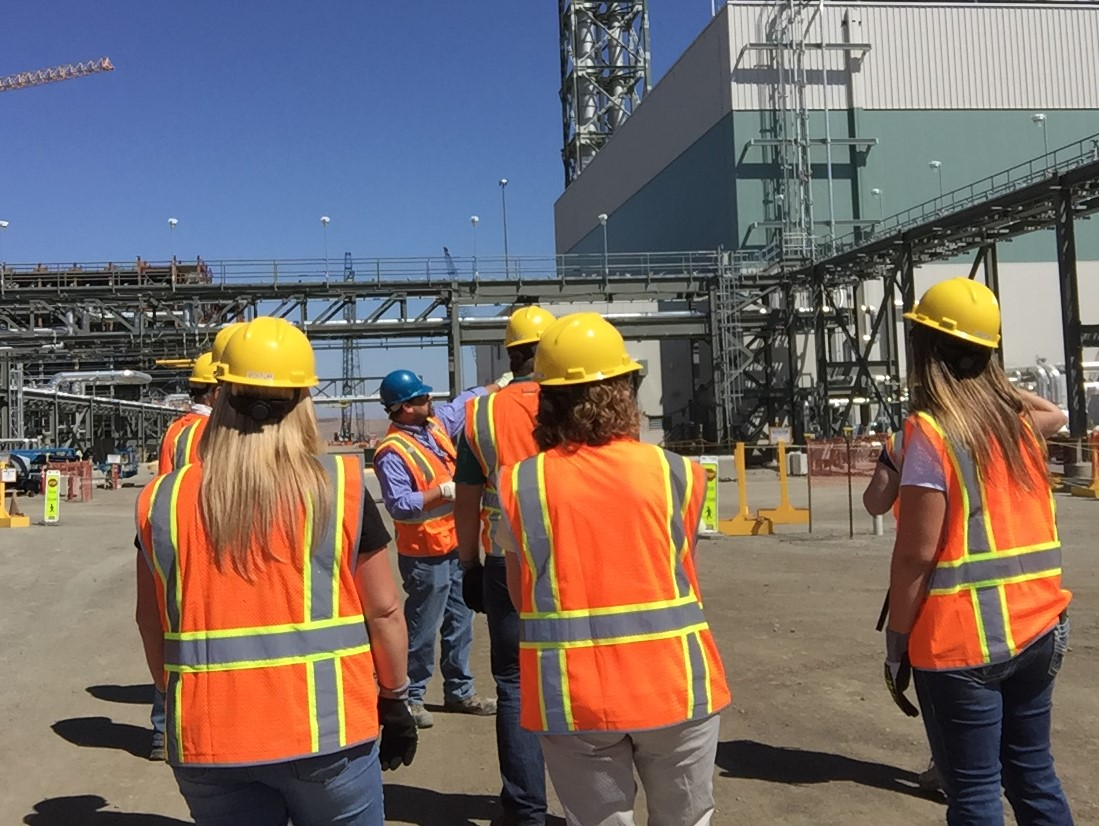 Several ODOE team members were joined by an Oregon state legislator and staff member, a representative of the Governor's Office, and a new member of the Oregon Hanford Cleanup Board for a walking tour of the Low-Activity Waste Facility and Analytical Laboratory at the Hanford Site. USDOE's partnership with Oregon on Hanford issues dates back more than 30 years.
