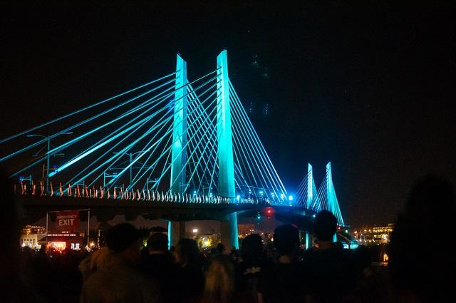 Tilikum Crossing at Night