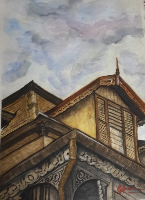OLD LATTICE HOUSE PT1-OLHPT12016 - A print of the Old Lattice House