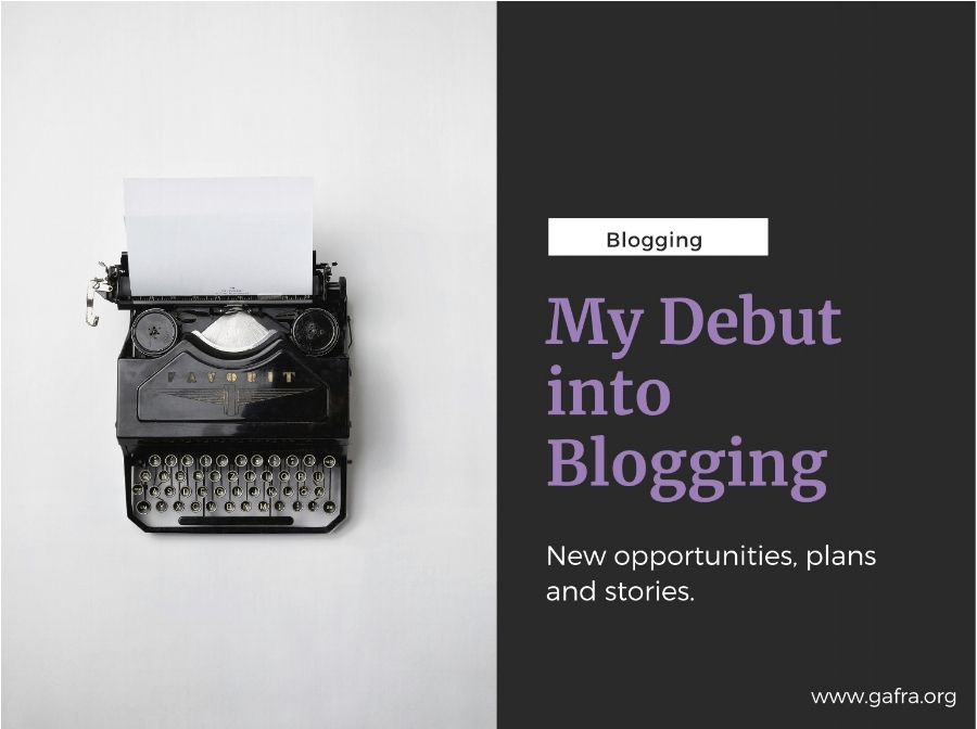 My Debut into Blogging. So many things to share and so much to learn. It is fun.