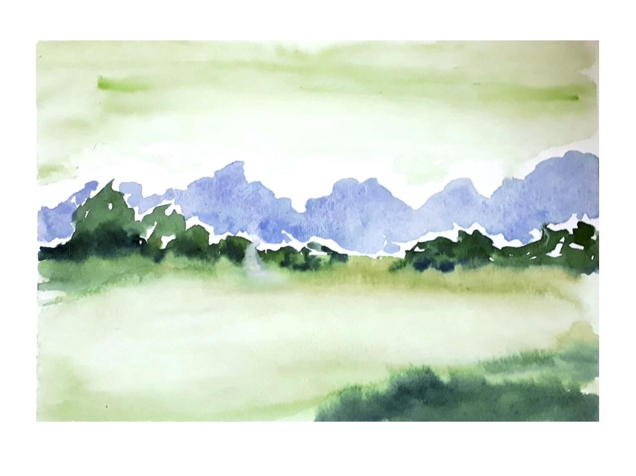 Green Valley - 7th Landscape Challenge Piece.