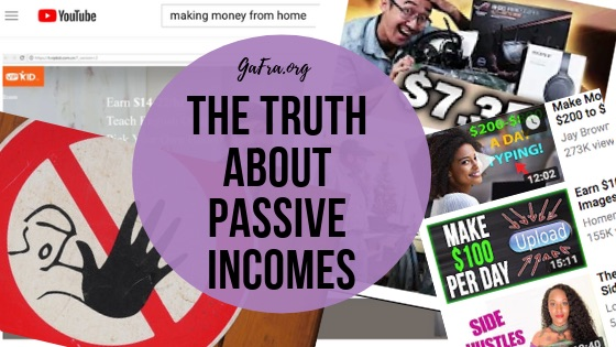 The Truth About Passive Income. How easy is it really? Hmmmmm I experienced somethung different.