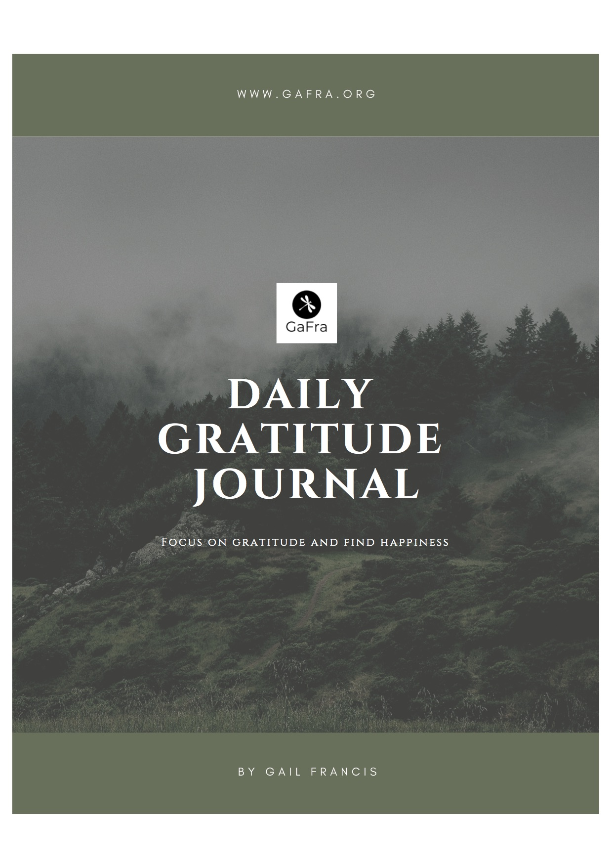 Gratitude Journal available at gafra.org