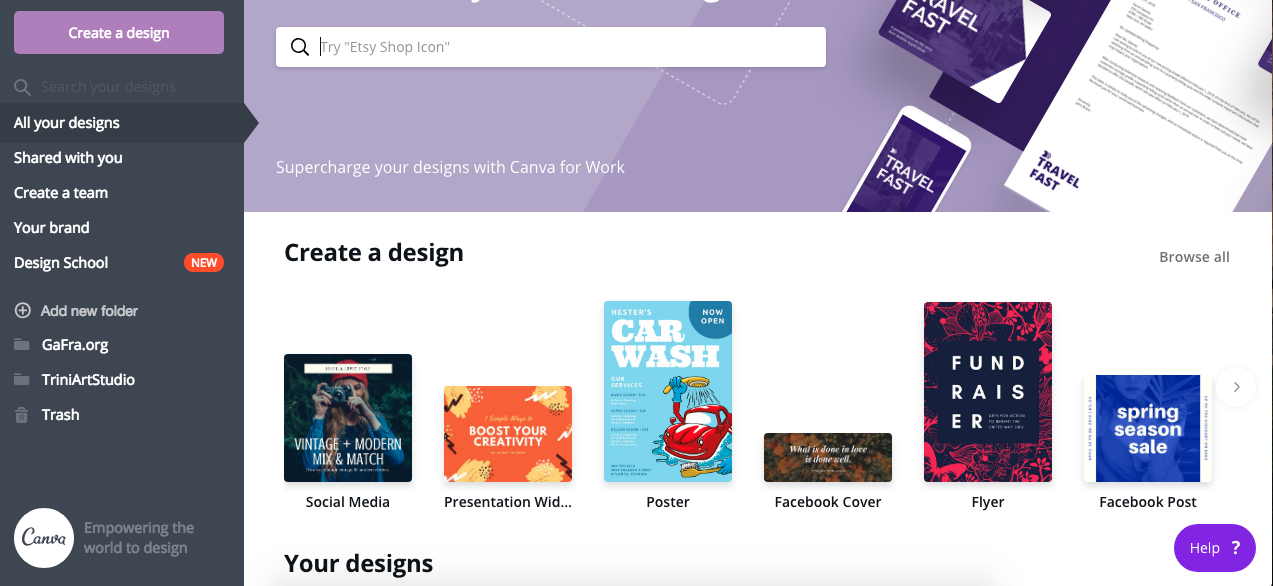 1. Using Canva by gafra.org. This is what the site looks like