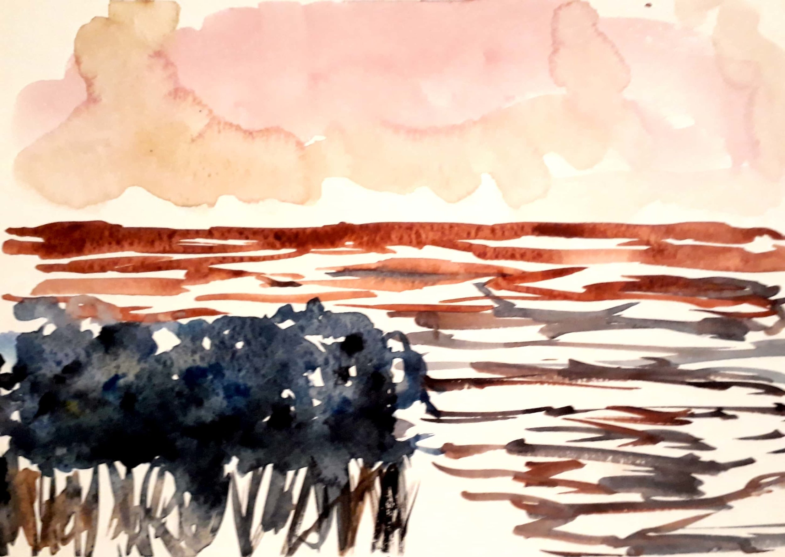 Watercolour landscape by gafra.org