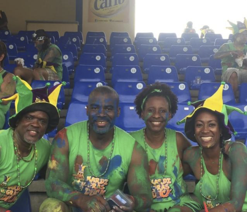 Me and my friends at Jouvert 2019